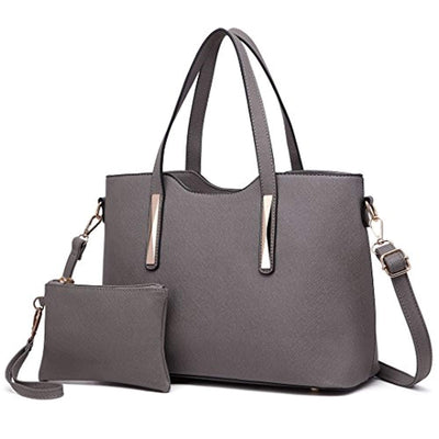 Miss Lulu Fashion Ladies Pu Saffiano Leather Top Handle Bags 2 Pieces Tote Shoulder Handbags for Women - eJinish BD