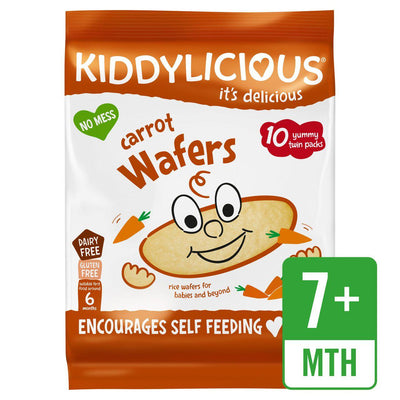 Kiddylicious Carrot Wafers 10 x 4g (UK/AU)