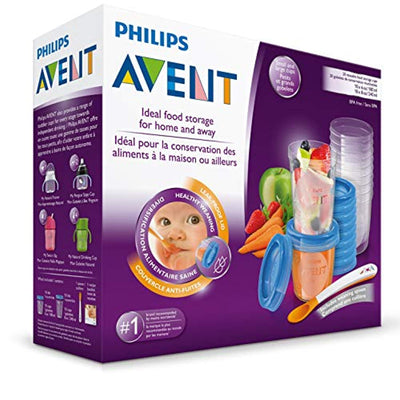 Philips AVENT Baby Food Storage Cups, Blue, 180/240 ml, Pack of 20 - eJinish BD