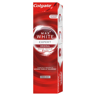 Colgate Max White Expert Pearl Mint Whitening Toothpaste 75ml (UK/AU)