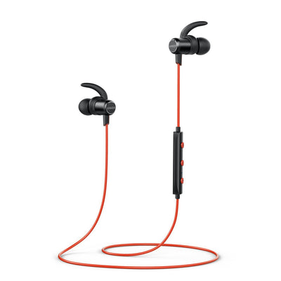 Anker Bluetooth Headphones, SoundBuds Slim Lightweight Wireless Headphones, IPX5 Sweatproof Sports Headphones with Mic (UK/AU)