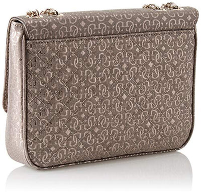 Guess Gioia, Women's Shoulder Bag, Grey (Pewter/Pew), 28x19.5x15 cm (W x H L) - eJinish BD