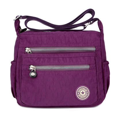 Women's Casual Multi Pocket Nylon Messenger Bags Cross Body Shoulder Bag Travel Purse - eJinish BD