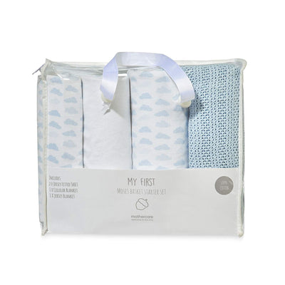 Mothercare Moses Basket Starter Set, Blue - eJinish BD