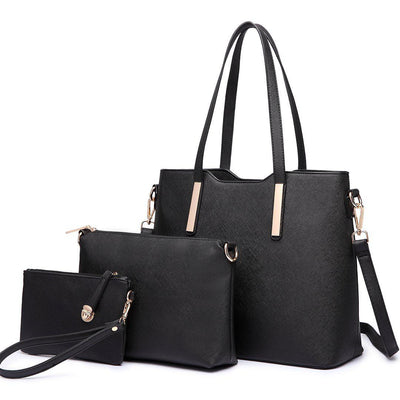 Miss Lulu Women Fashion Handbag Shoulder Bag Purse Faux Leather Tote 3 Pieces - eJinish BD