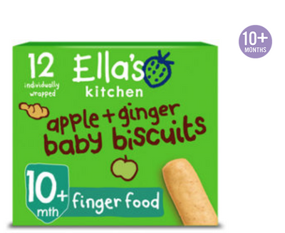 Ella's Kitchen Apple & Ginger Baby Biscuits 12 x 9g (UK/AU)