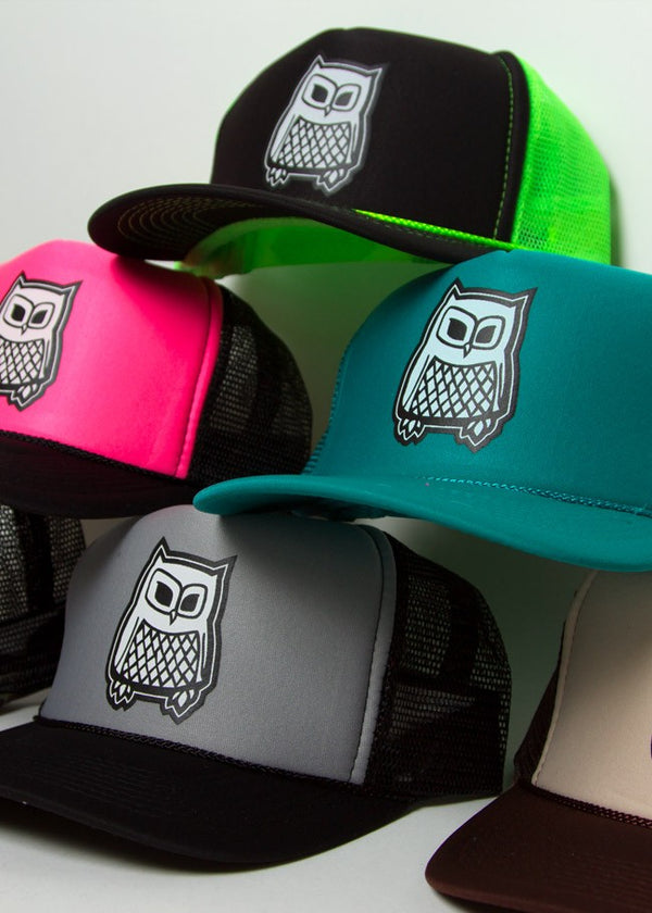 Owl Mesh Foam Trucker Hats