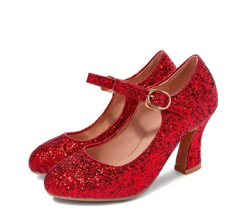 Woodland Gatherer's Red Glittery Dorothy Shoes