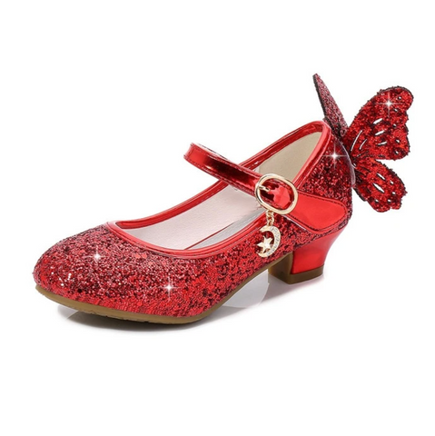 Magical Red Glittery Butterfly Shoes Woodland Gatherer