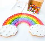 Little Pegs Rainbow Peg Boards | Australian Early Educational Toys - Woodland Gatherer