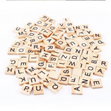 100 pcs/set Wooden Scrabble Tiles - Woodland Gatherer