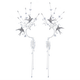 Pair of Water Drill Birds Ear Cuffs | Headdress
