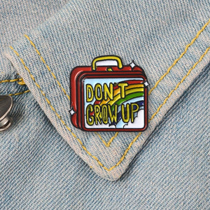 Don't Grow Up | Rainbow Lunch Box | Enamel Pin