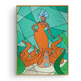 Four Stained Glass Mermaids | Prints Posters | Wall Art