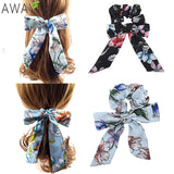 Boho Scarf Bow Scrunchies | Pony Tail Hair Accessories