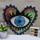 Lovey Eyes Sequin Iron On Patches