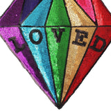 Rainbow Loved Diamonds Applique Sew On Patch