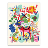 Retro Nordic Canvas Prints | Deer Horse llama Posters