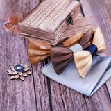 Carved Wooden Bow Tie