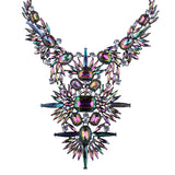 crystal statement necklaces australian online shopping festival fashion bling statement piece festival jewellery shine