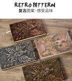 Handmade Embossed Faux Leather Bejewelled Journal | The Phoenix Bird Theme