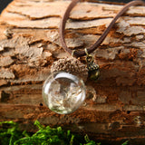Acorn Dandelion Bubble Glow In The Dark Necklaces Natural Stones Leather Shells Ceramic Boho Jewellery | Woodland Gatherer | Australian Online Store | Gifts & Treasures | Special Occasions & Everyday Fun | Boho Life | Whimsical Treats | Jewellery | Fashion | Crafting DYI | Stationery | Boho Festival Fashion