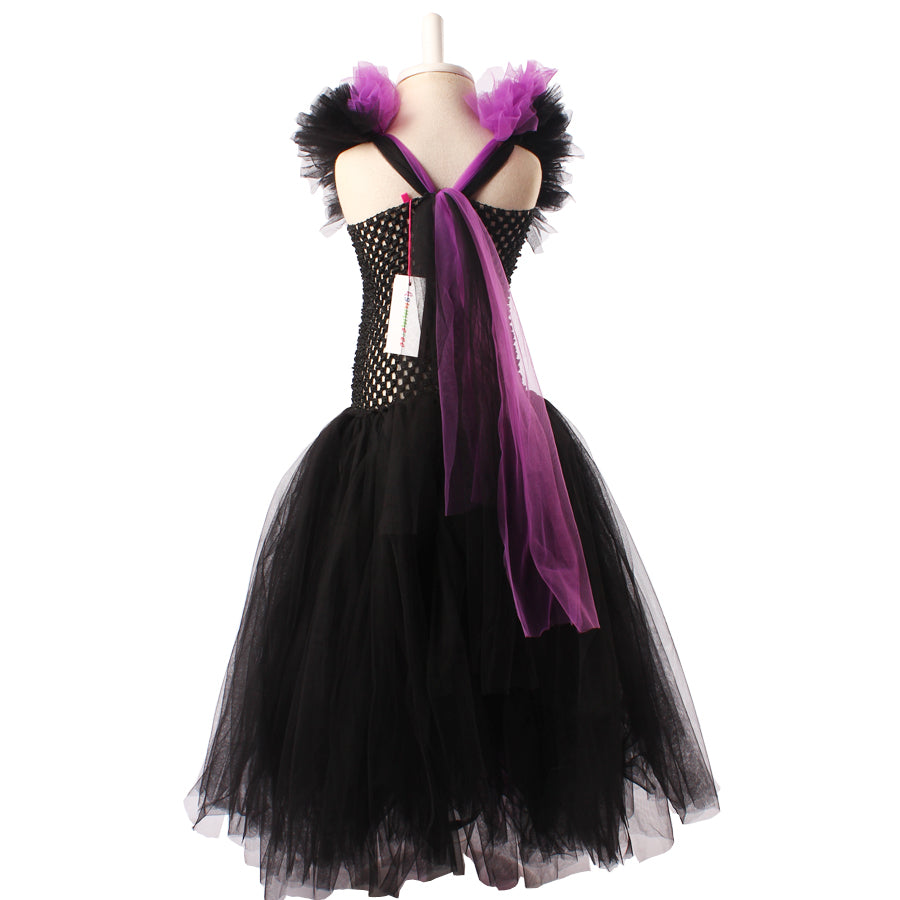 Queen Maleficent Tutu Dress with Horns | Halloween Party