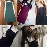 More Retro Corduroy Dungaree Mini Dresses