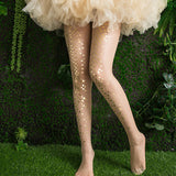 Shiny Glittery Sequinned Mermaid Scale Stockings | FIVE Colours