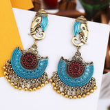 Indian Elephant | Gypsy Life | Enamel Vintage Style Boho Earrings