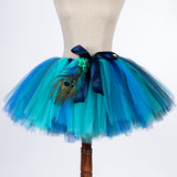 Mummy & Me Peacock Feather Tutu Skirt With Witches Hat