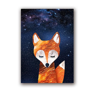 Woodland Animal Room Decor Canvas Wall Art Fox Deer Polar Bear Starry Night | Woodland Gatherer | Australian Online Store | Gifts & Treasures | Special Occasions & Everyday Fun | Boho Life | Whimsical Treats | Jewellery | Fashion | Crafting DYI | Stationery | Boho Festival Fashion