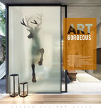 Horse or Deer Glass Film Window Sticker