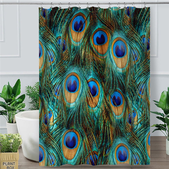 Peacock Feathers | Bohome | Shower Curtain