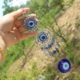 Hamsa Hand of God | Blue Evil Eye Protection Amulet