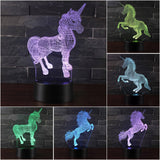 Unicorn Night Lights | 3D LED  Remote Control