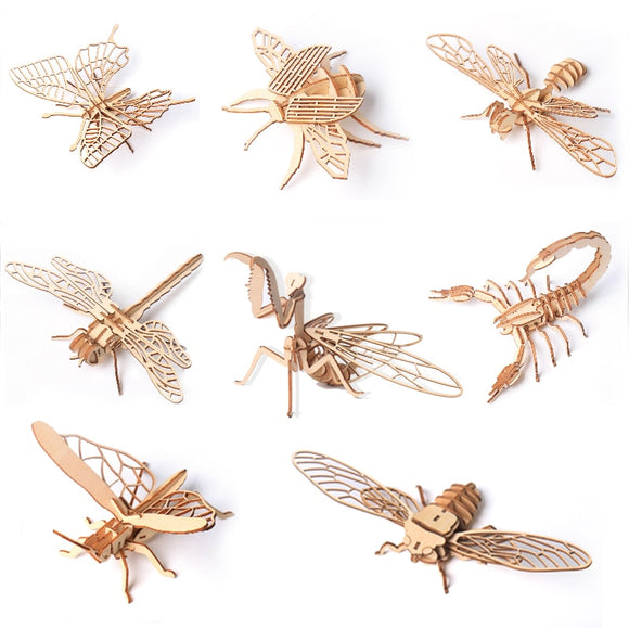 Insects 3D Wooden Puzzles