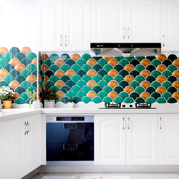Dragon or Mermaid Scales?  | Wall Tiles | Waterproof PVC Stickers