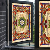 Lotus Flower Stained Glass Window Film | 40x80cm