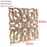 Square Wooden Carving Decal