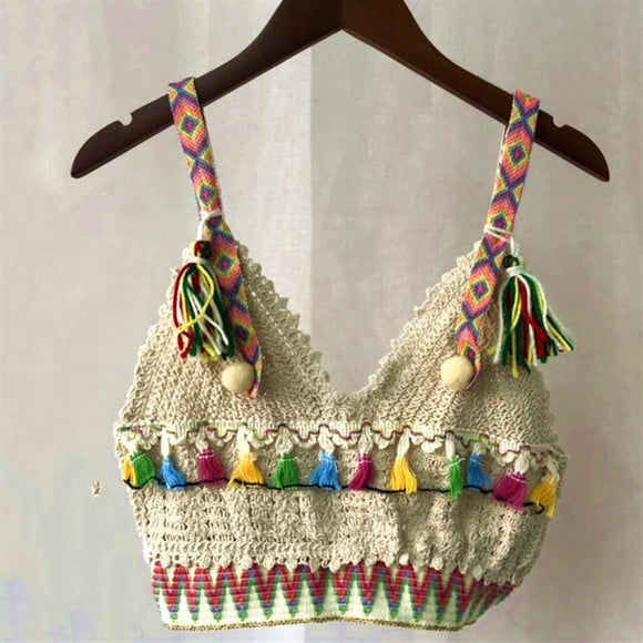 Indie Festival Fashion Boho Crop tp crocheted  Online Shopping australian NZ