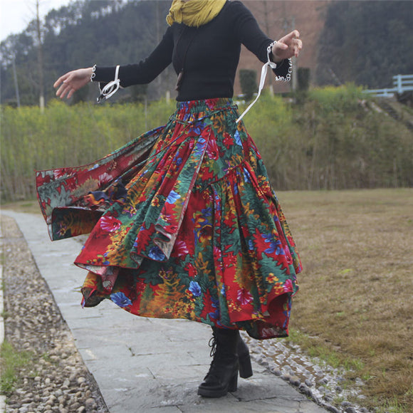 Romany Gypsy Asymmetrical Skirts