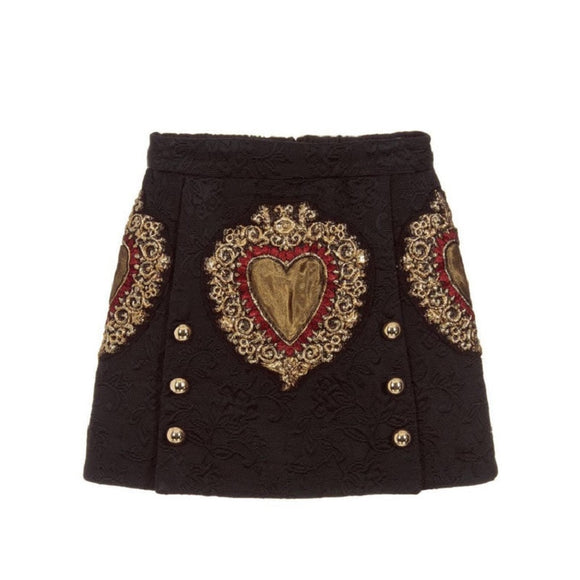 Julietta's Black Heart Mini Skirt