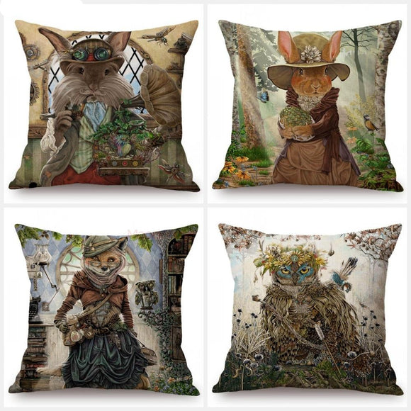 Fairy Tale Characters of the Woodlands | Art Decorative Cushion Covers
