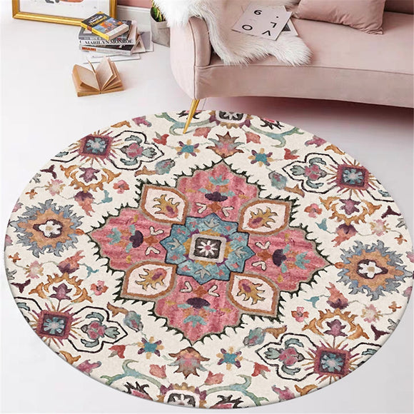American Indian Round Carpet | Nonslip Floor Mat