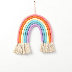 Nordic Woven Rainbow Tapestry Wall Hanging
