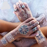 6Pcs Boho Metallic Waterproof Temporary Tattoos