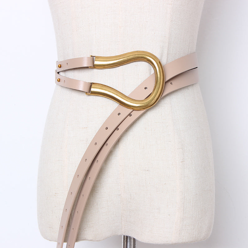 Puss'n Boots' Soft Faux Leather Knotted Belt