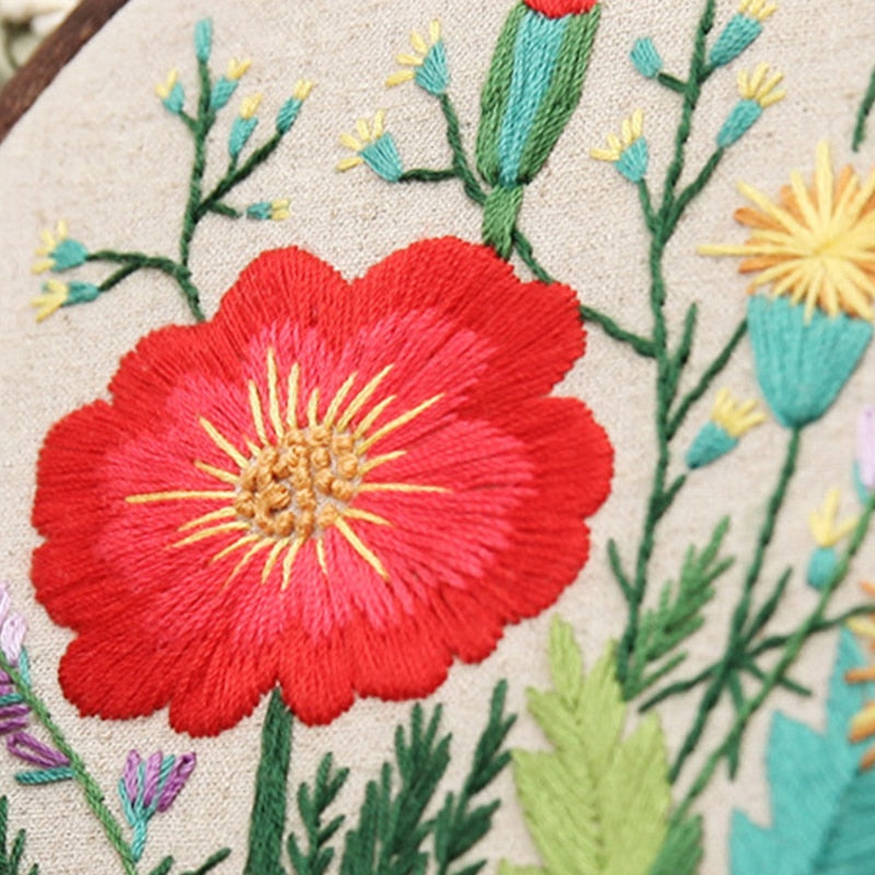 Spring Flowers | Handcraft Embroidery Needlework Kits DIY
