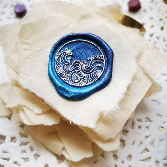 Wax Seals Stamp Head | Sea Wave
